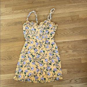 Yellow floral mini sundress